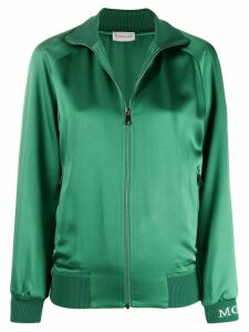 Moncler side stripe zipped sweatshirt - Green