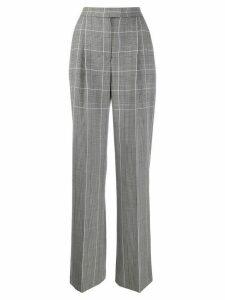Alberta Ferretti checked wide-leg trousers - Black