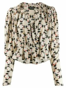 Isabel Marant printed blouse - NEUTRALS