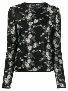 Giambattista Valli floral embroidered sweater - Black