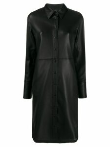 Joseph lambskin shirt dress - Black