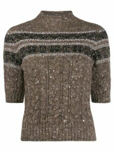 Lorena Antoniazzi high neck jumper - NEUTRALS