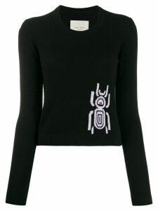 Frankie Morello jacquard beetle jumper - Black
