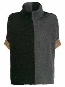 Lorena Antoniazzi colour-block jumper - Grey