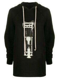Rick Owens DRKSHDW graphic-print hoodie - Black