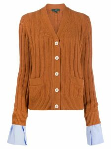 Rebecca Minkoff ribbed cardigan - ORANGE