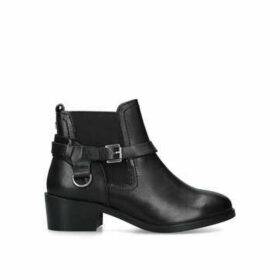 Carvela Saddles - Black Block Heel Ankle Boots