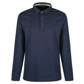 Regatta Pierce Rugby Style Shirt Long Sleeved Top Navy