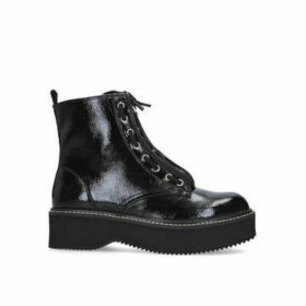 Dkny Rhi - Black Chunky Biker Boots