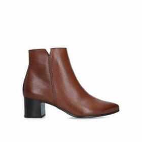 Paul Green Dalia - Brown Block Heel Ankle Boots