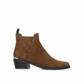 Dkny Michelle - Tan Western Style Ankle Boots