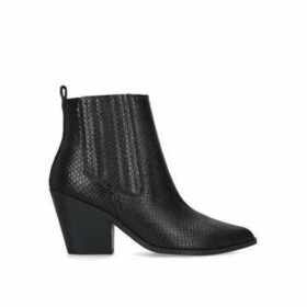 Nine West Lexa - Black Western Style Ankle Boots