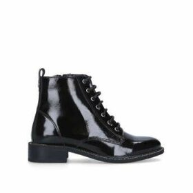 Carvela Spike - Black Patent Lace Up Ankle Boots