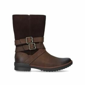 Ugg Lorna Boot - Brown Calf Boot With Double Buckle