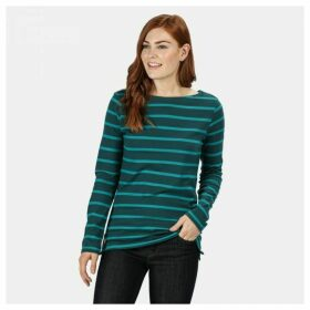 Women's Flordelis Striped Long Sleeve T-Shirt Deep Teal Deep Lake