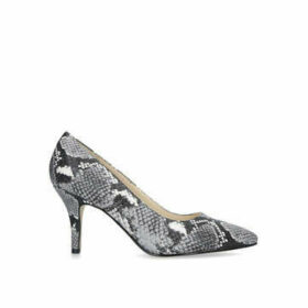 Nine West Flagship 75 - Grey Snake Print Mid Heel Court Shoes