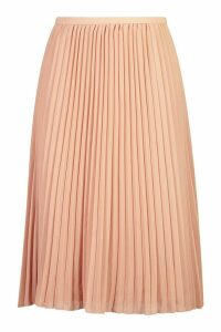 Womens Plus Chiffon Pleated Midi Skirt - Pink - 20, Pink