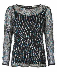 Monsoon Heidi Sequin Longsleeve Top