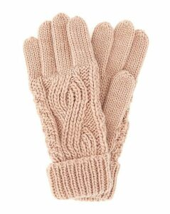 Darby Cable Knit Gloves Pink