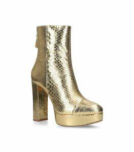 Snakeskin Rachel Platform Boots 130
