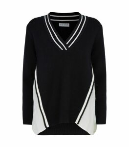 Pleated Trim Sweater