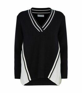 Pleated Trim Sweater