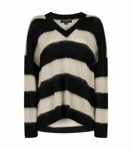 Stripe V-Neck Lou Sweater