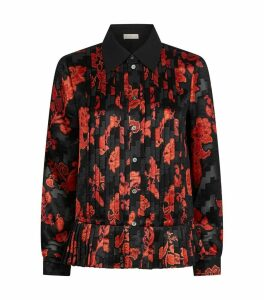 Paisley Pleated Satin Shirt