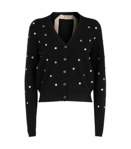 Crystal-Embellished Cardigan