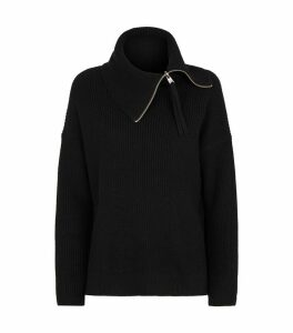 Kadine Rollneck Zip Sweater