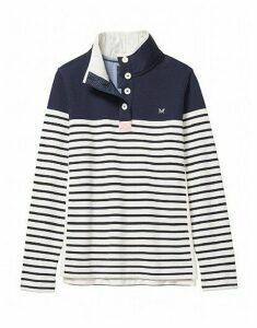 Half Button Sweatshirt In Navy