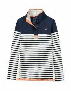 Half Button Sweatshirt in Navy