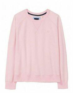 Crew Logo Sweatshirt in Pure Pink