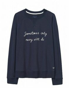 Embroidered Sweatshirt in Heritage Navy