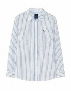 Lulworth Poplin Shirt in Spot Dobby Pinstripe