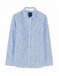 Lulworth Poplin Shirt in Floral Pinstripe