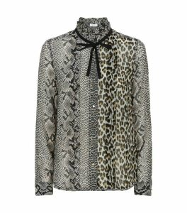 Animal Print Tulle Shirt