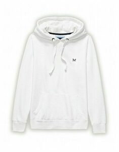 Crew Logo Hoody In White