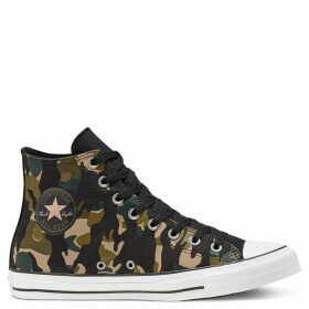 Unisex Converse Chuck Taylor All Star Wordmark And Camo Print High Top