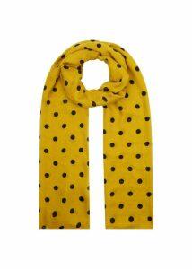 Lisa Spot Scarf Saffron Yellow