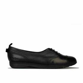 Kickers Womens Perobelle Leather Plimsole Size 7 in Black