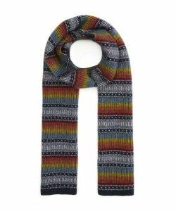 Ombre Stripe Wool Scarf