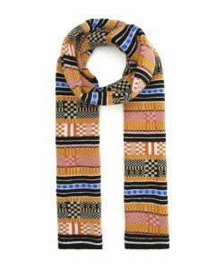 Multi Stitch Stripe Wool Scarf