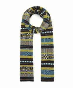 Multi Stitch Stripe Wool Scarf