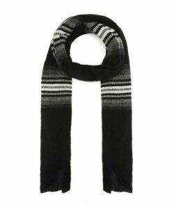 Cloud Geo Stripe Wool Scarf