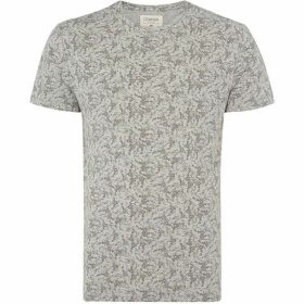 Criminal Textured All Over Print T-Shirt
