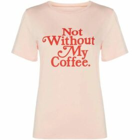 Bando Not Without My Coffee Printed T-Shirt