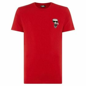 Karl Lagerfeld Small Chest Karl Embroidery Short Sleeve T-Shirt