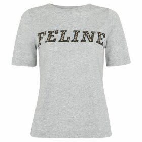 Whistles Feline Leopard Logo T-Shirt