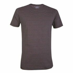 Double Two 100% Cotton Navy Striped T-Shirt